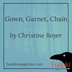 Gown Garnet Chain by Christine Boyer